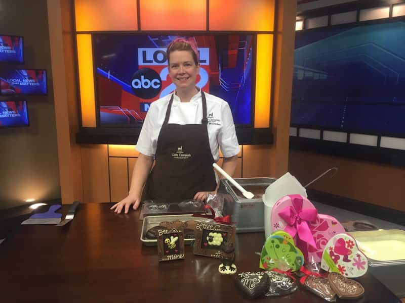 Chocolate Heart Throbs on Local 22 graphics