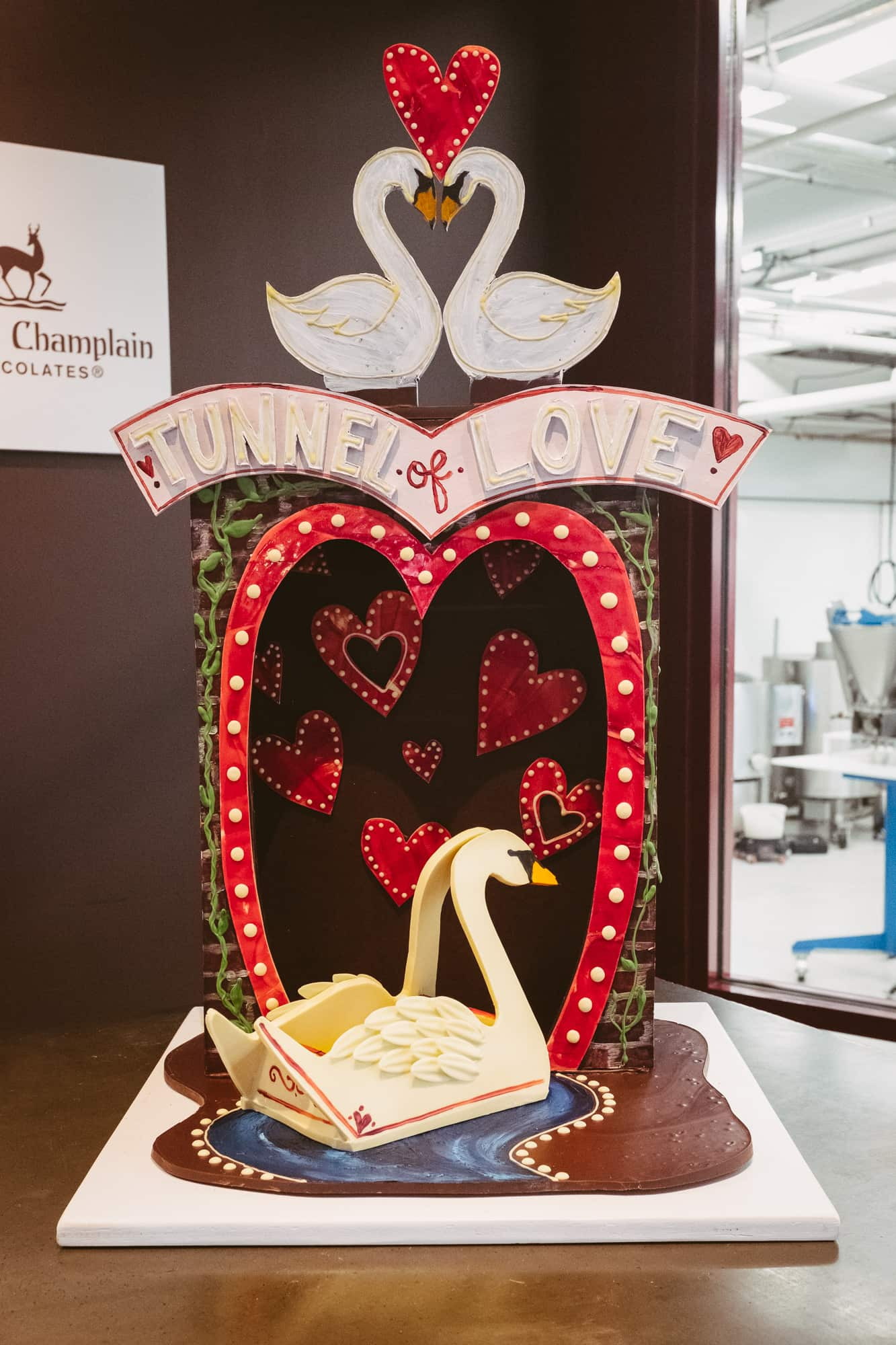 Tunnel of Love chocolate sculpture